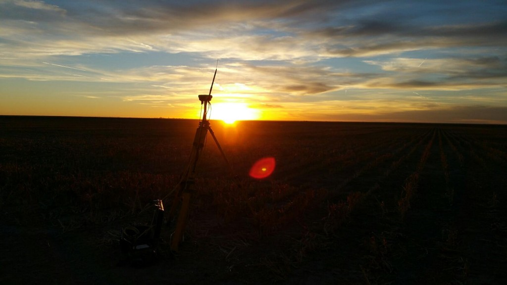 Trimble equipment at sunset. Taken by Tim Geisick