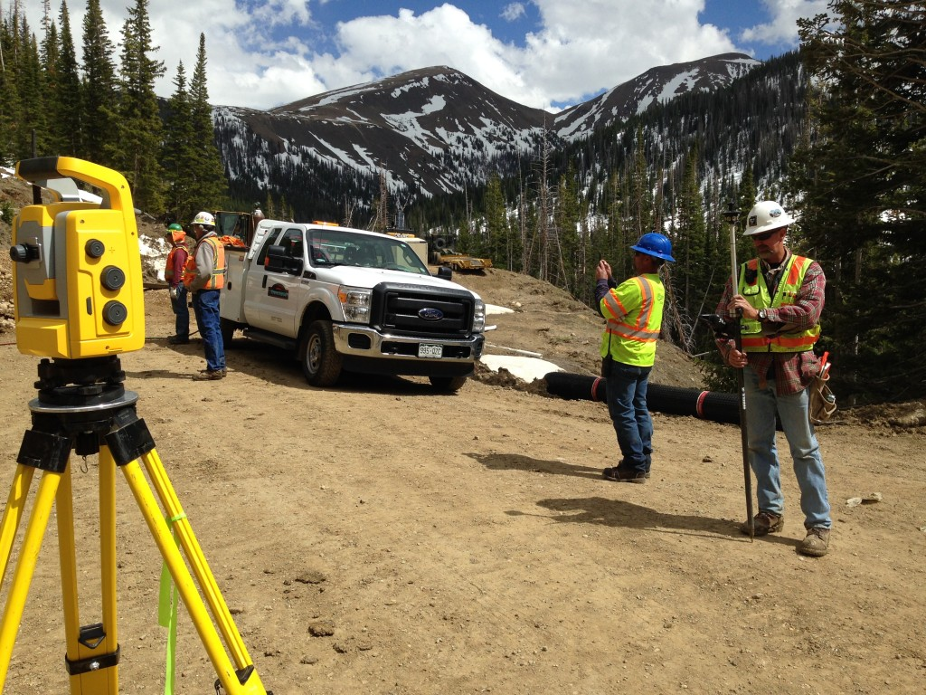 On site at the Michigan Ditch Tunnel Project, near Walden , CO