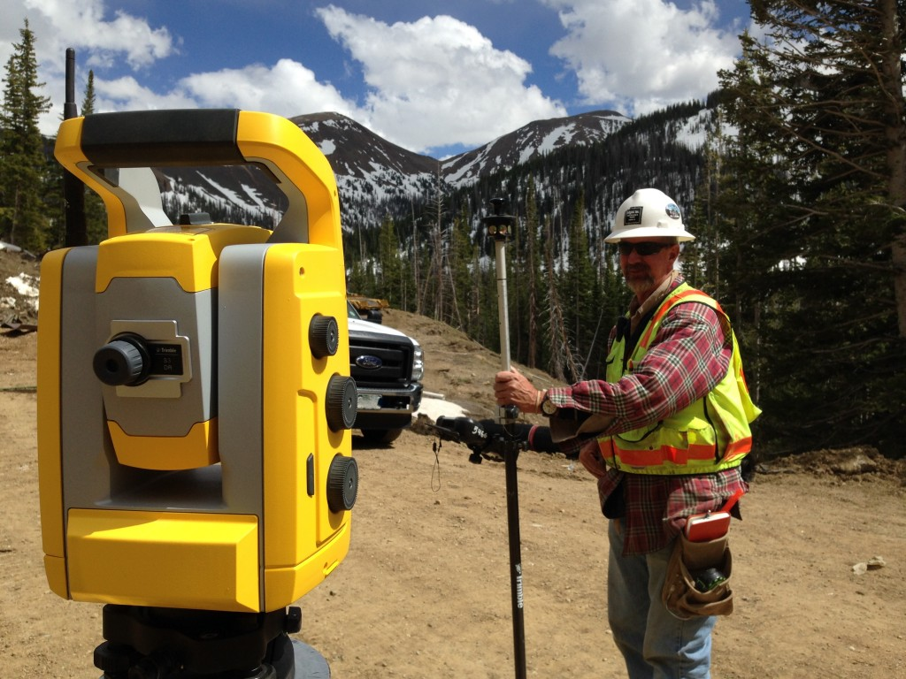 tunnel surveying using Trimble equipment